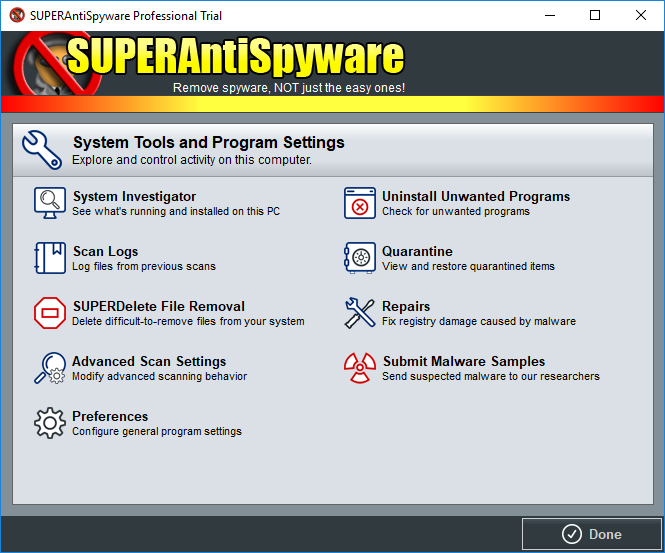 SUPERAntiSpyware full