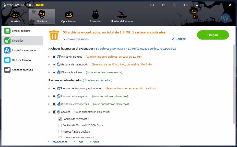 Wise Care 365 PRO optimizador de Windows