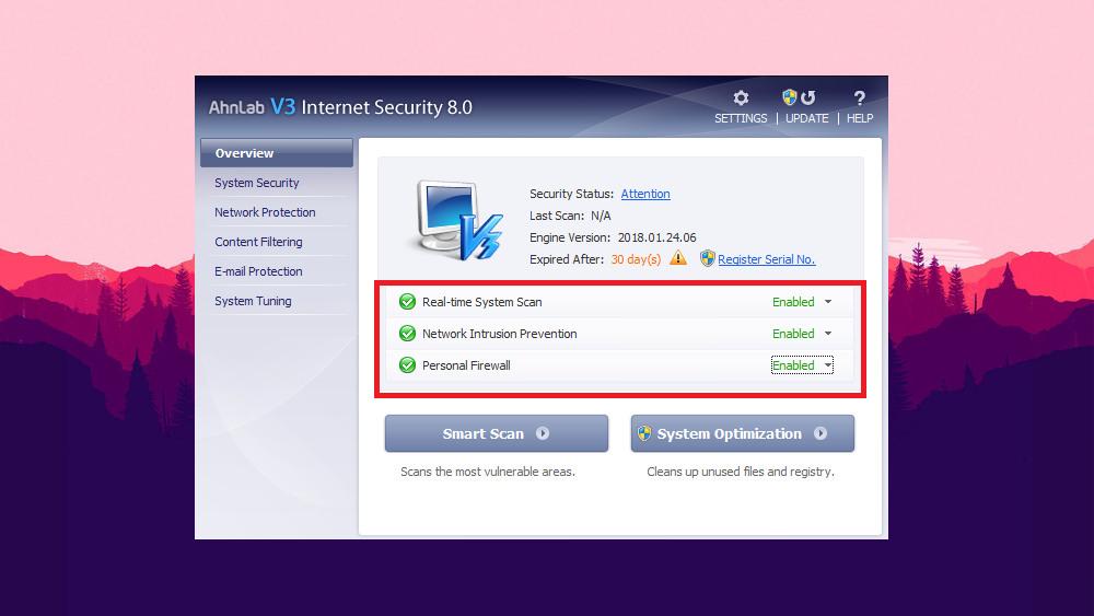 Antivirus AhnLab V3 Internet Security