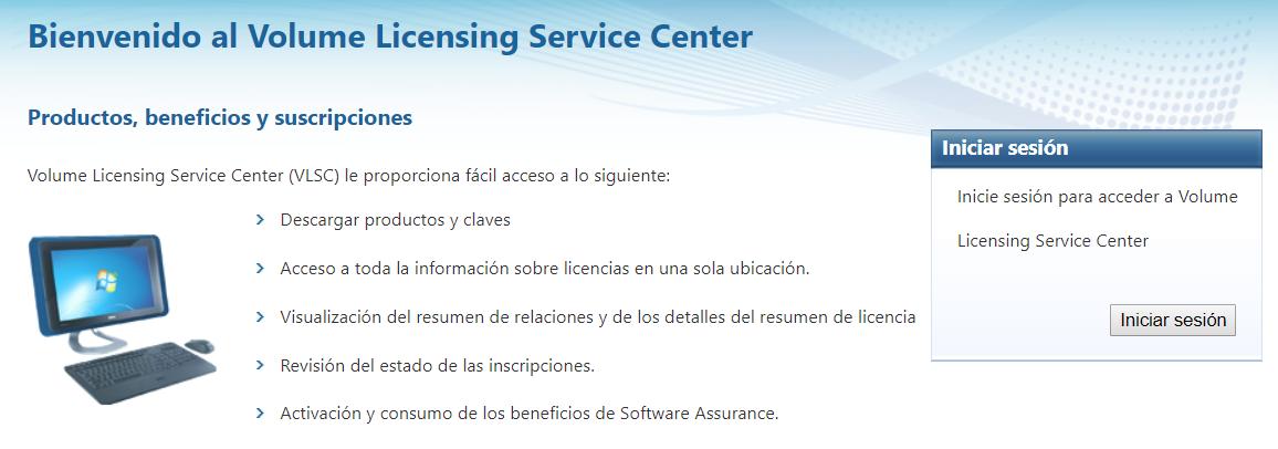 Centro de Servicios de Licencias por Volumen