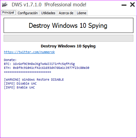 Destroy Windows 10 Spying 1.7