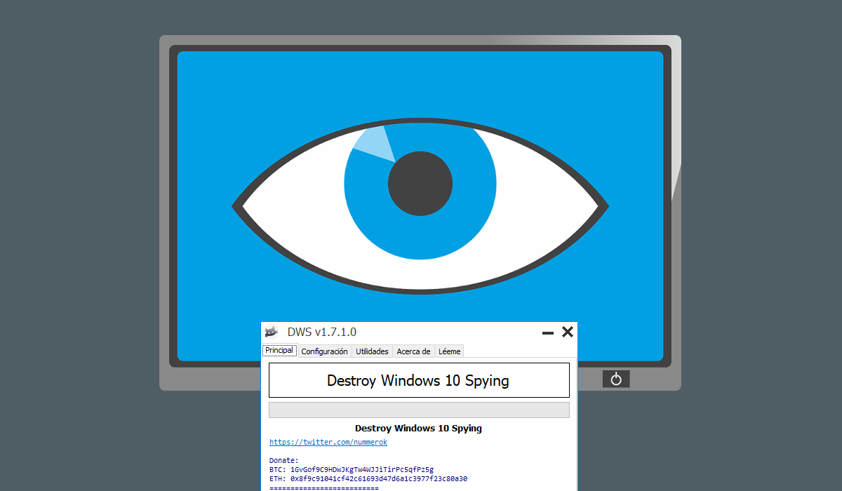 Destroy Windows 10 Spying DWS