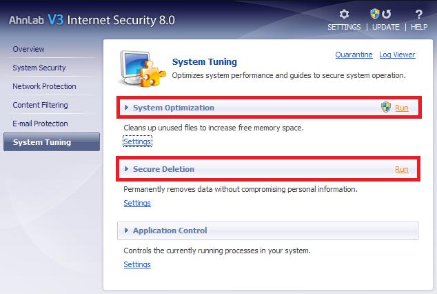 borrado seguro AhnLab V3 Internet Security
