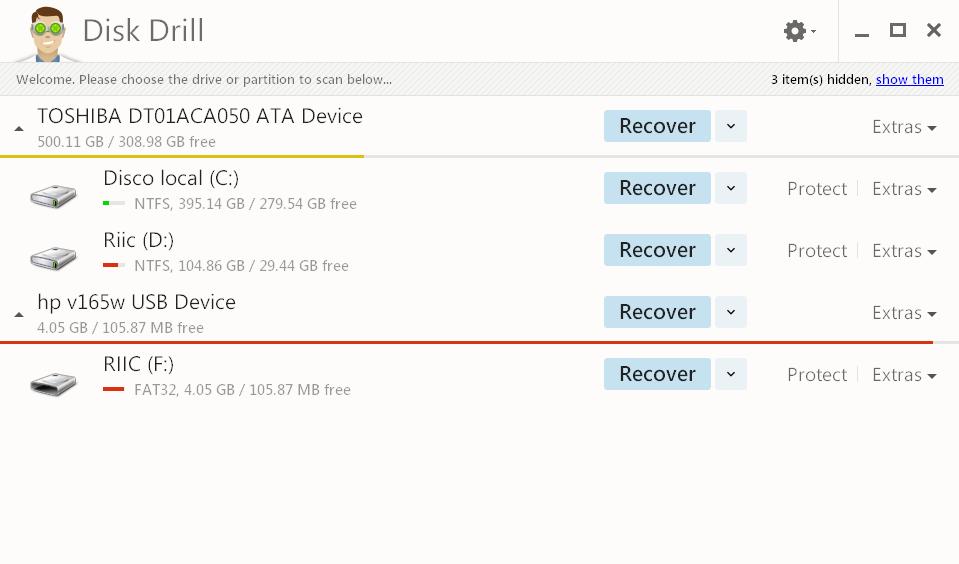 Disk Drill recuperador de archivos