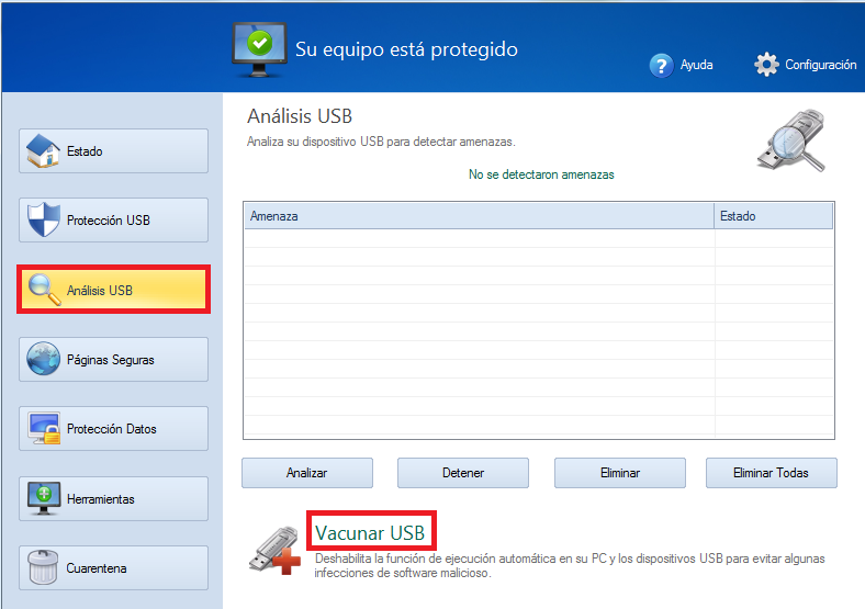 Vacunar USB Disk Security