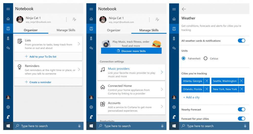 Cuaderno Cortana