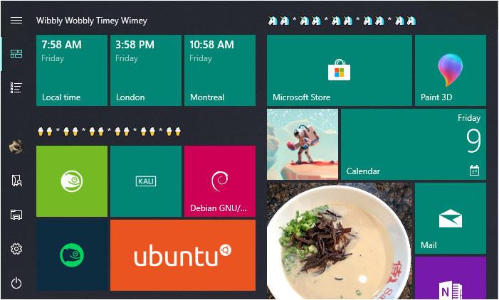 Menú de Inicio en Windows 10 Abril 2018
