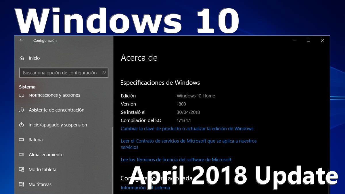 Windows 10 April 2018 Update v1803 Redstone 4 Build 17134.1