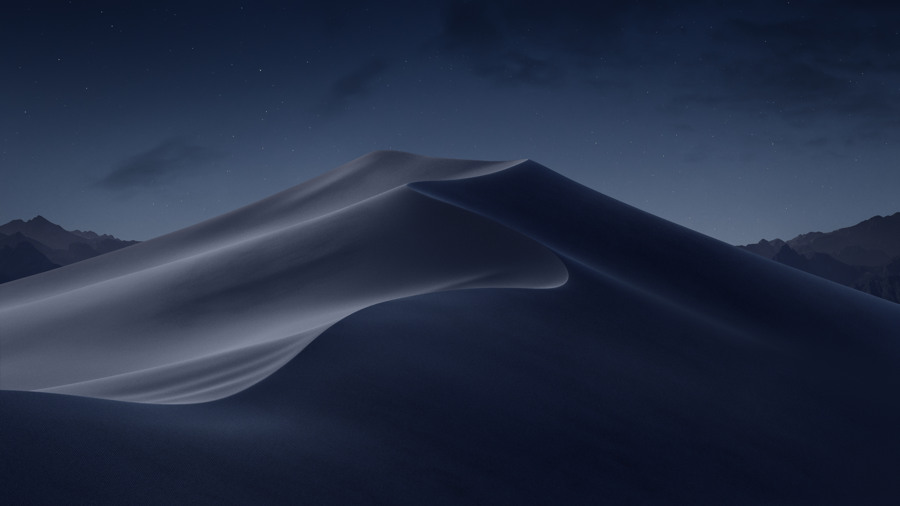 Wallpaper macOS Mojave Night 4k