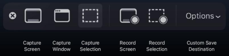 capturas de pantalla en macOS Mojave